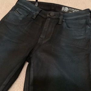 df73ba2d Diesel Jeans | Skinzee Dark Blue Wax Coated Denim Nwot | Poshmark